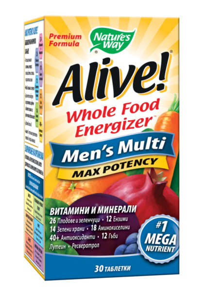 Мултивитамини за Мъже ALIVE! таблетки x30